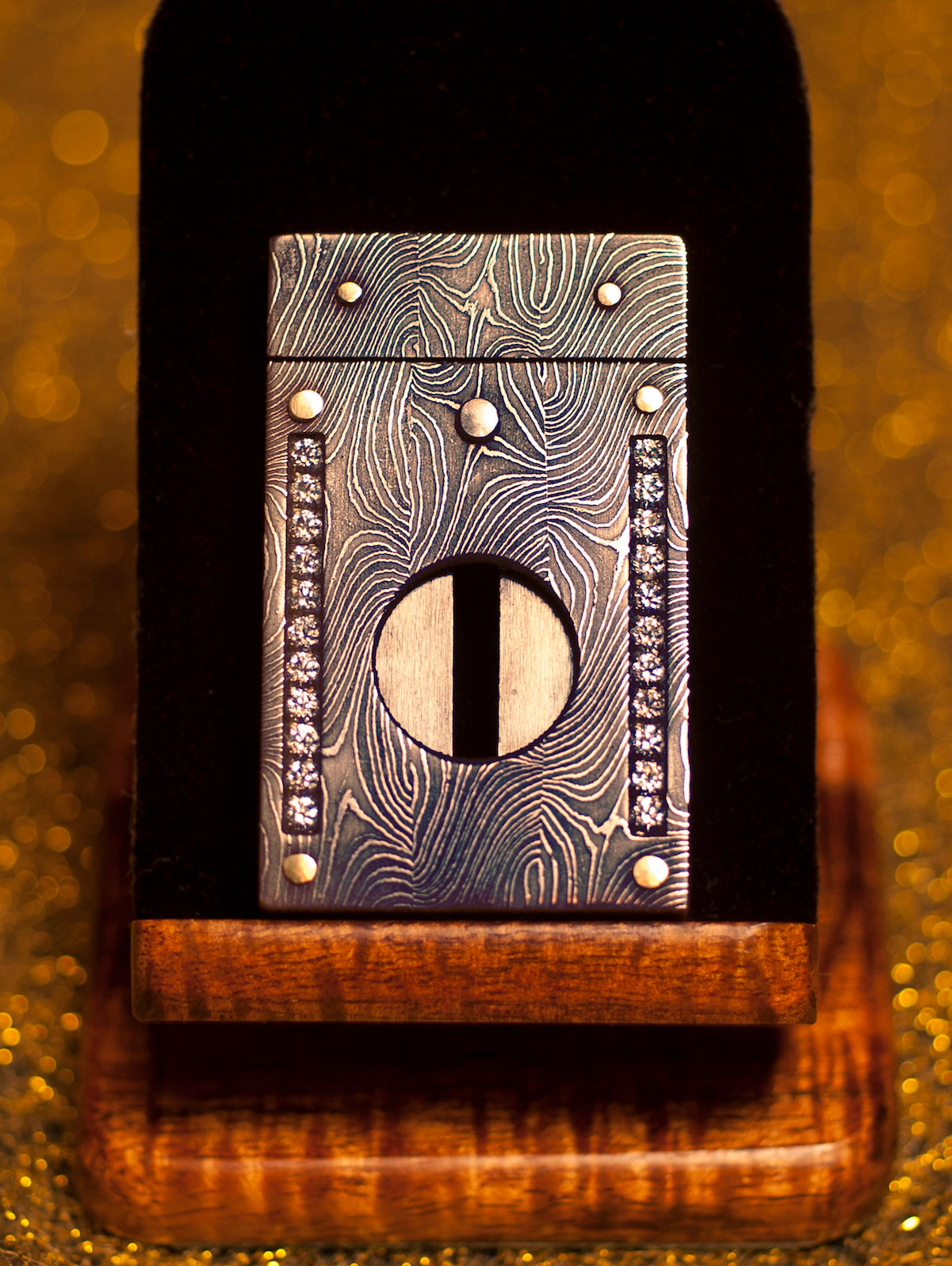 Damascus Cigar Cutter by Paramount Cutters