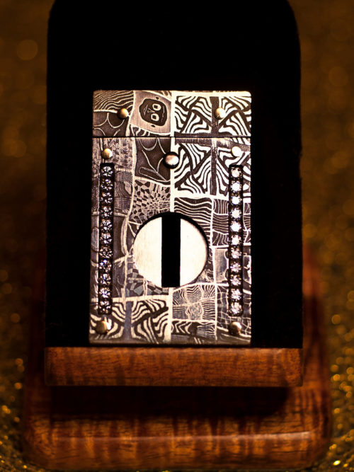 Mosaic Damascus Cigar Cutter by Paramount Cutters