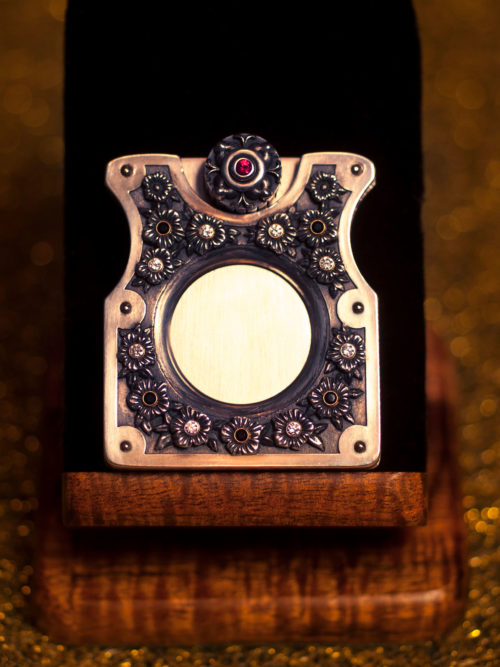 Sterling Silver Flower Cigar Cutter by Paramount Cutters