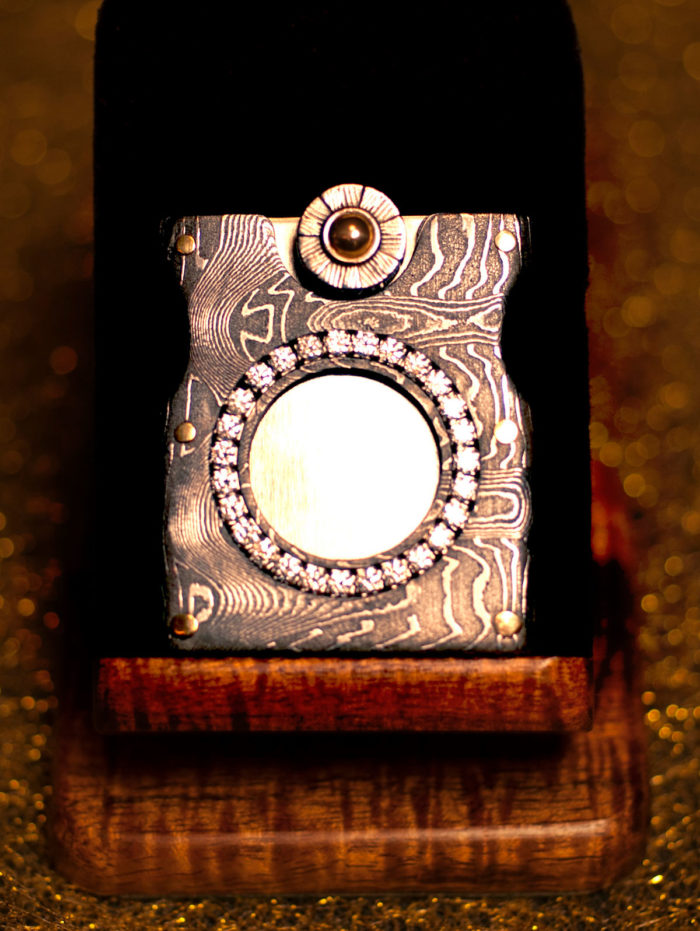 W's Damascus Cigar Cutter by Paramount Cutters