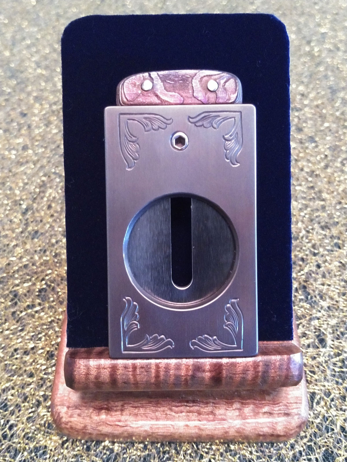 Border Engraved Cigar Cutter by Paramount Cutters